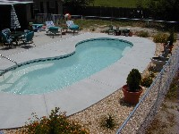 Seaside Fiberglass Pool in Sweetser, IN